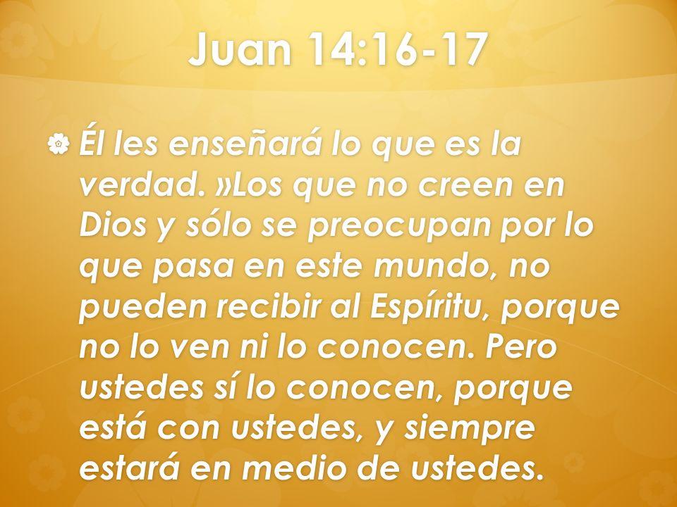 Juan 14:16-17