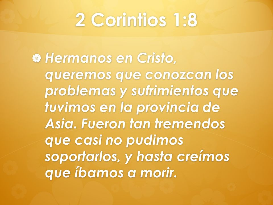 2 Corintios 1:8