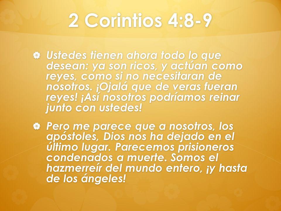 2 Corintios 4:8-9