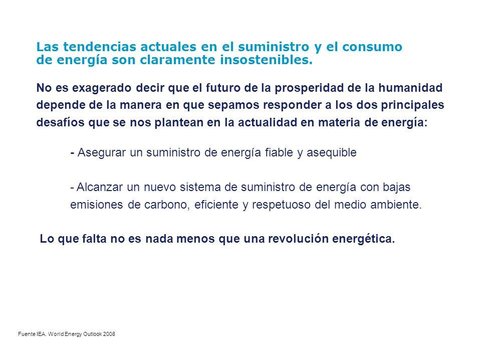 Lo que falta no es nada menos que una revolución energética.