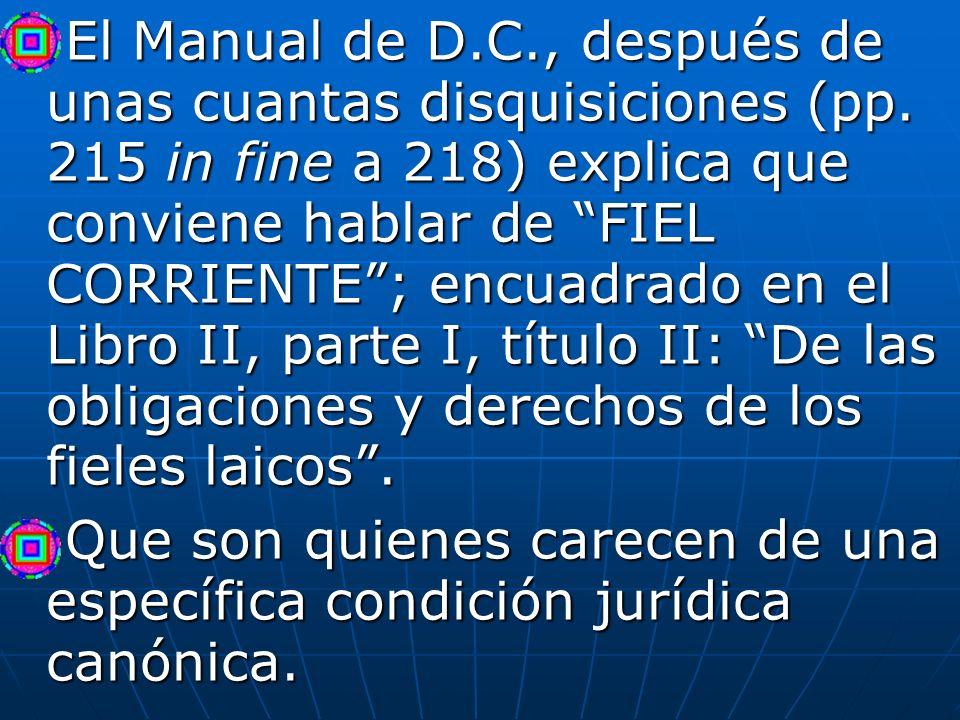 El Manual de D. C. , después de unas cuantas disquisiciones (pp