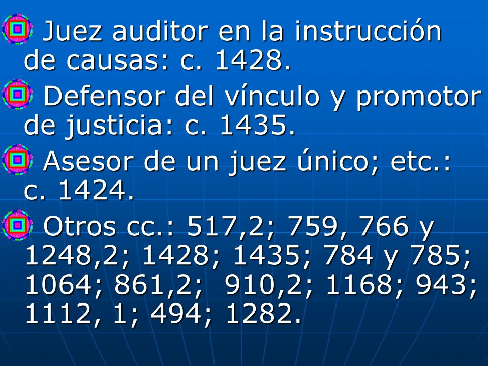 Juez auditor en la instrucción de causas: c. 1428.
