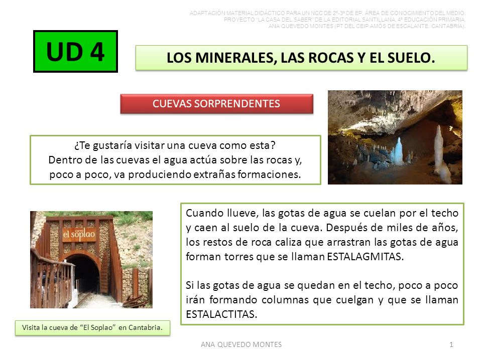 LOS MINERALES, LAS ROCAS Y EL SUELO.