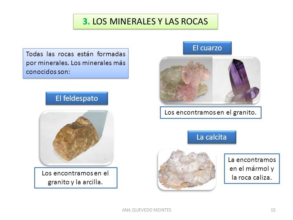 3. LOS MINERALES Y LAS ROCAS