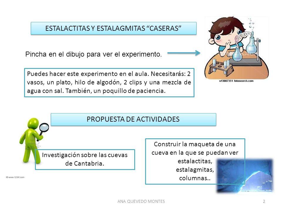 ESTALACTITAS Y ESTALAGMITAS CASERAS