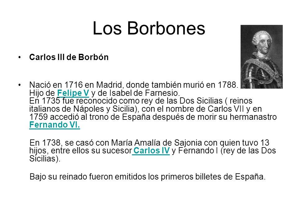 Los Borbones Carlos III de Borbón