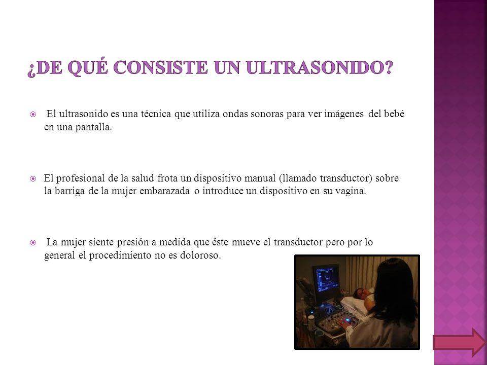 ¿de qué consiste un ultrasonido