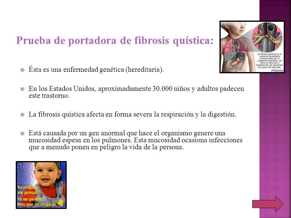 Prueba de portadora de fibrosis quística: