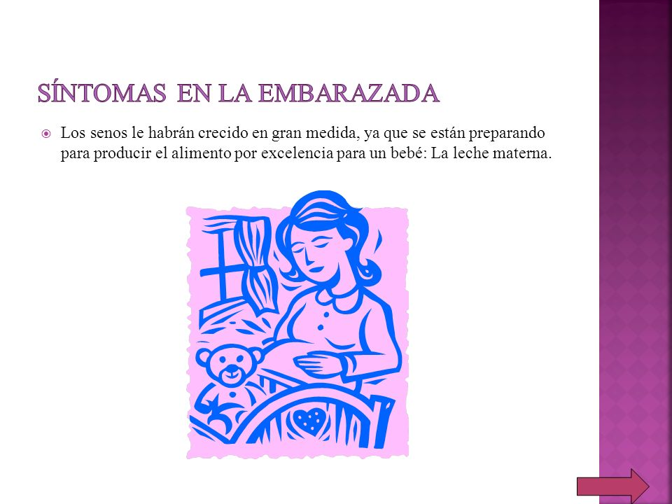 Síntomas en la embarazada