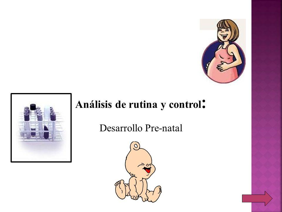 Análisis de rutina y control: