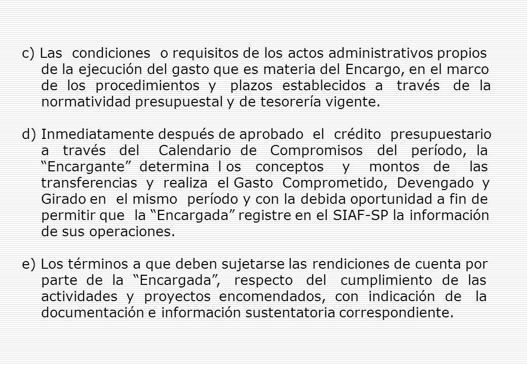 Artículo 64°.- Principales términos y condiciones de Convenios