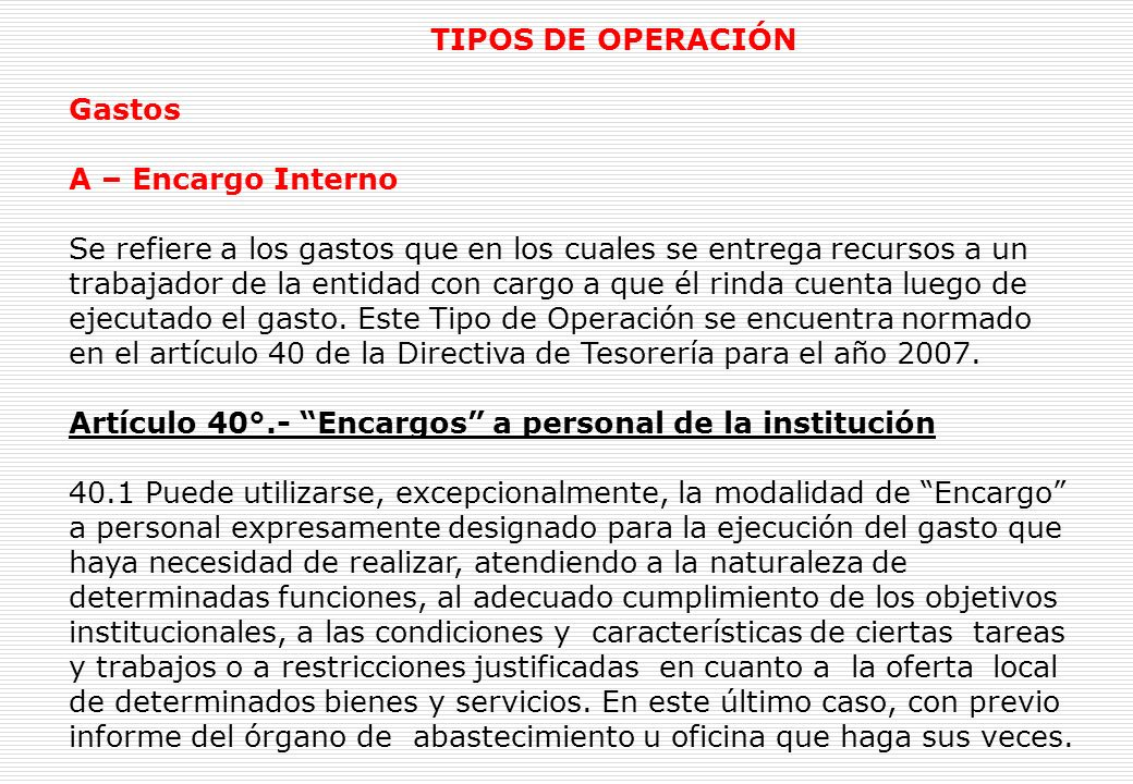 REGISTRO ADMINISTRATIVOS TIPO DE OPERACIÓN GASTOS - INGRESOS