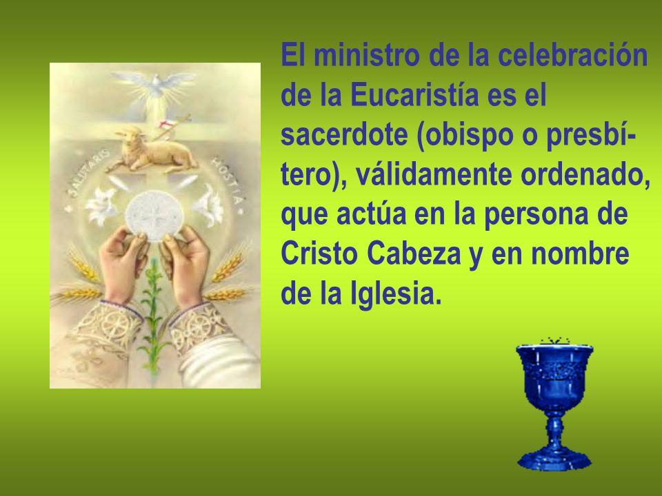 El ministro de la celebración