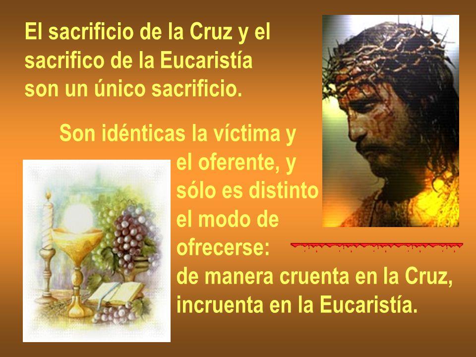 El sacrificio de la Cruz y el