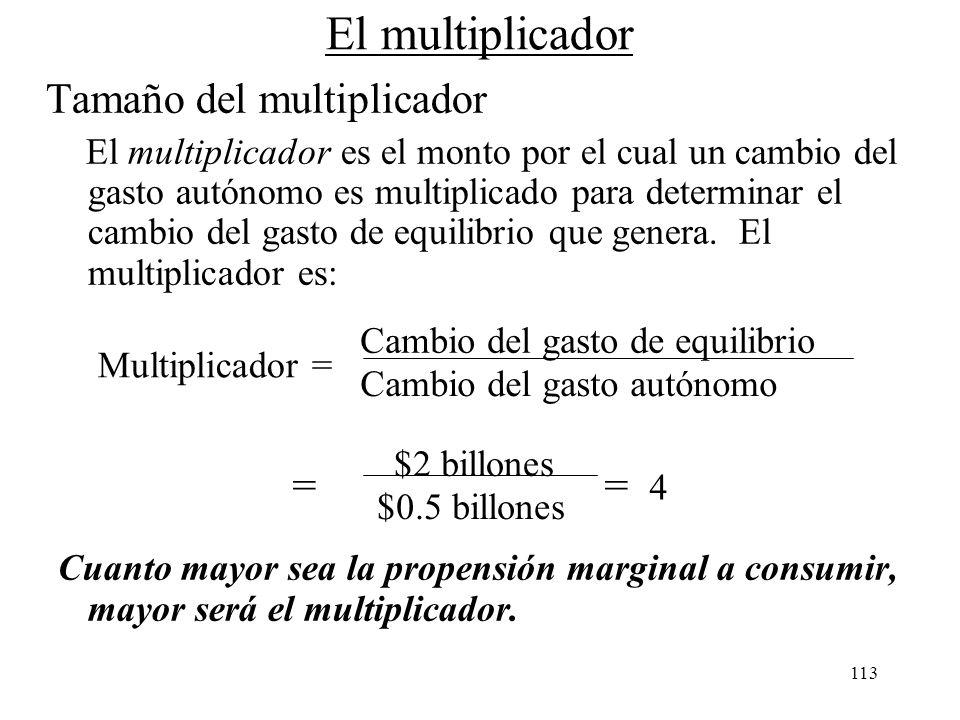 El multiplicador Tamaño del multiplicador = = 4