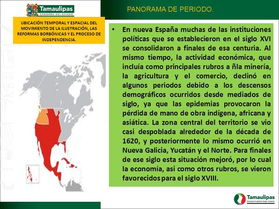 PANORAMA DE PERIODO. UBICACIÓN TEMPORAL Y ESPACIAL DEL MOVIMIENTO DE LA ILUSTRACIÓN, LAS REFORMAS BORBÓNICAS Y EL PROCESO DE INDEPENDENCIA.