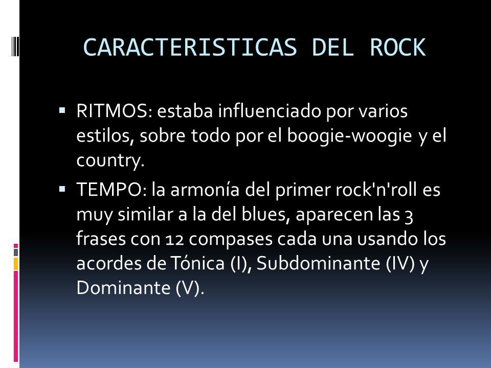CARACTERISTICAS DEL ROCK