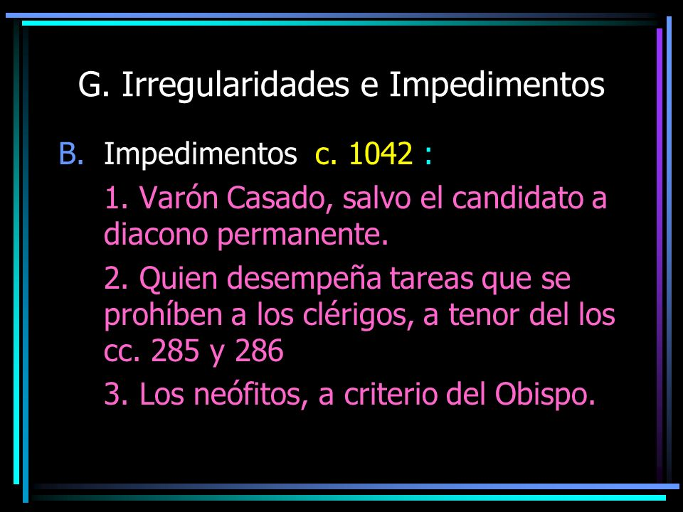G. Irregularidades e Impedimentos