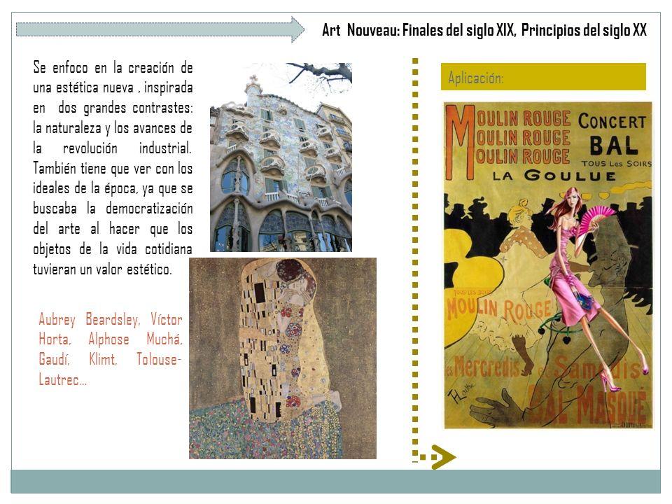 Art Nouveau: Finales del siglo XIX, Principios del siglo XX
