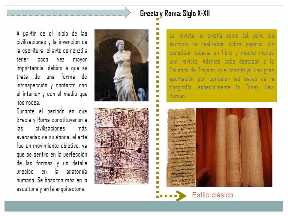 Grecia y Roma: Siglo X-XII