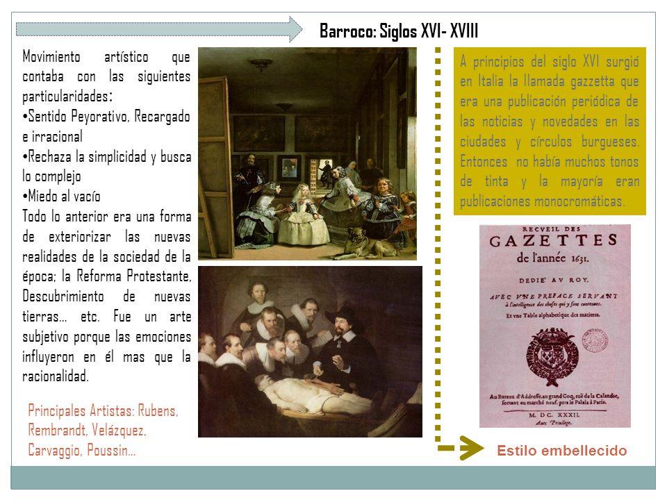 Barroco: Siglos XVI- XVIII