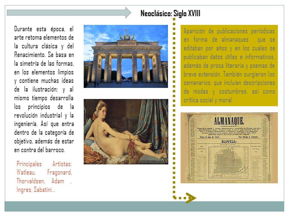 Neoclásico: Siglo XVIII