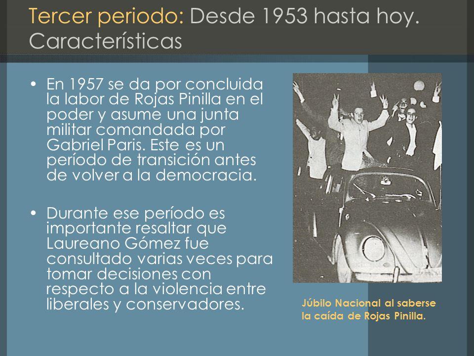 Tercer periodo: Desde 1953 hasta hoy. Características