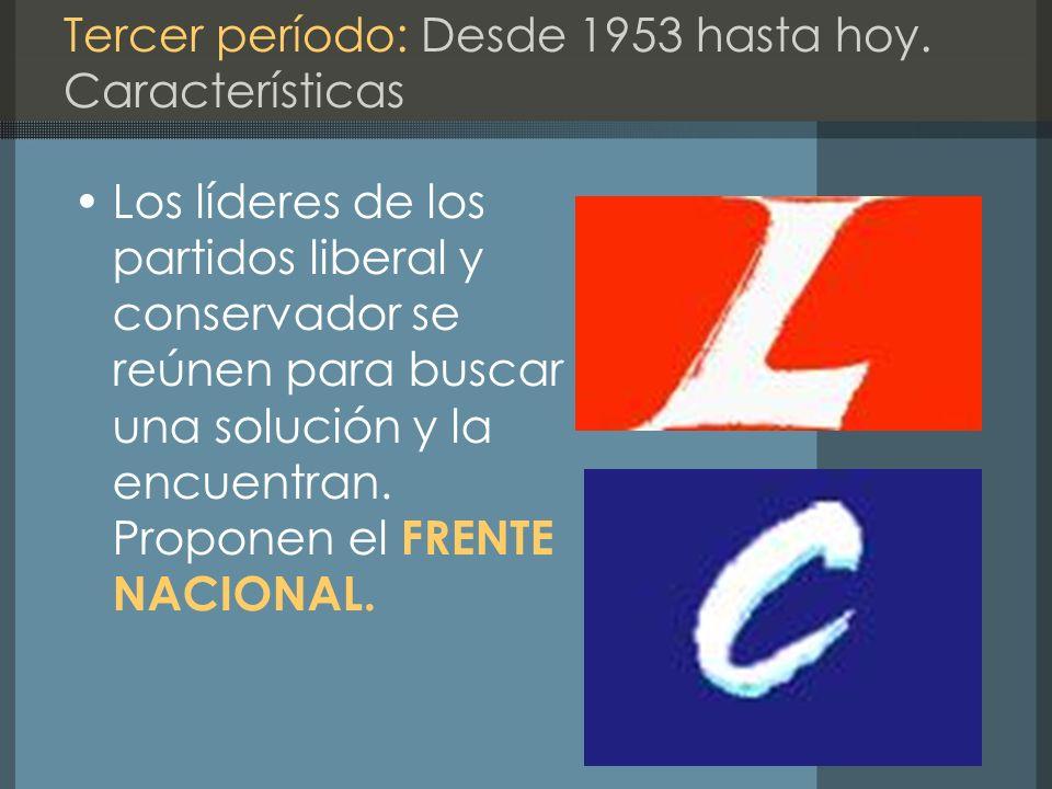 Tercer período: Desde 1953 hasta hoy. Características