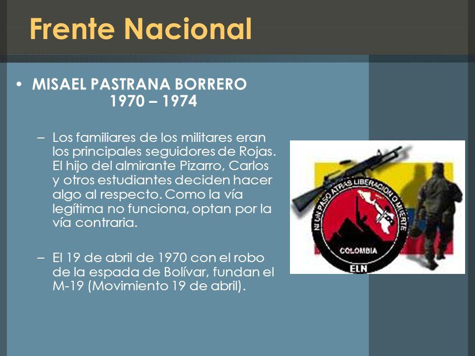 Frente Nacional MISAEL PASTRANA BORRERO 1970 – 1974