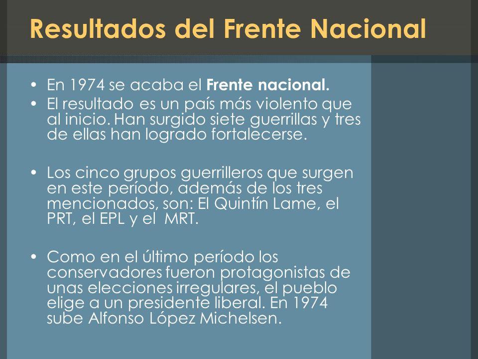 Resultados del Frente Nacional