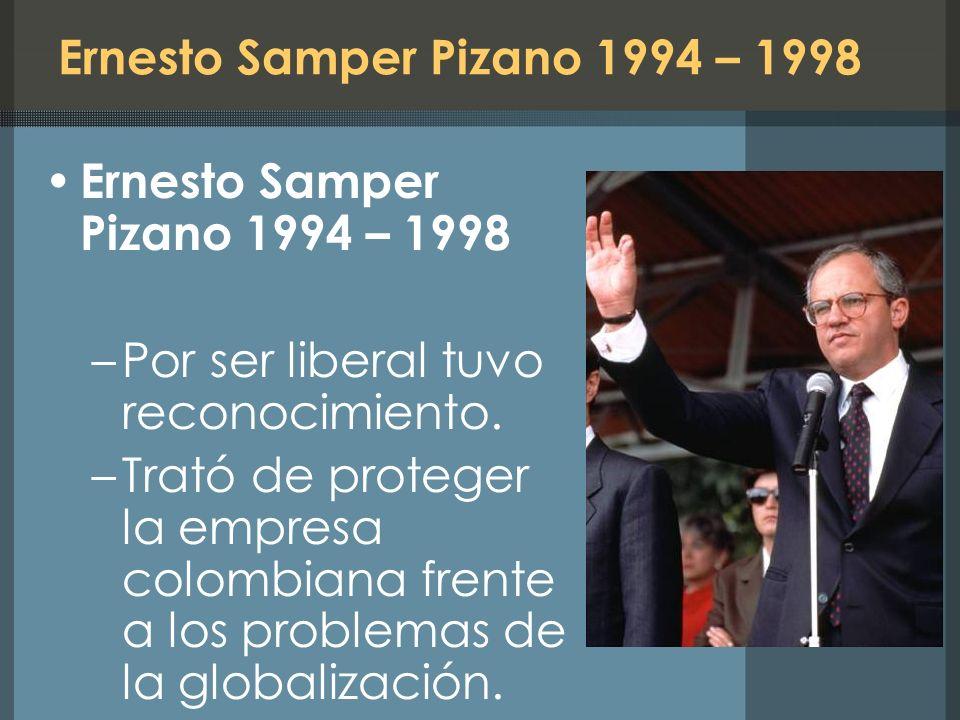 Ernesto Samper Pizano 1994 – 1998