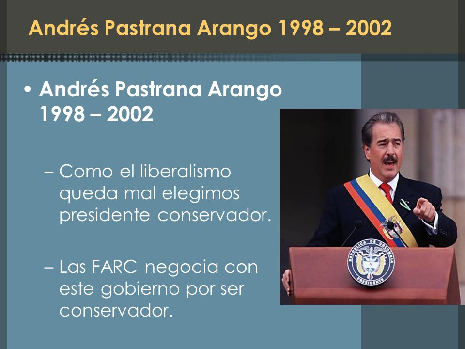 Andrés Pastrana Arango 1998 – 2002