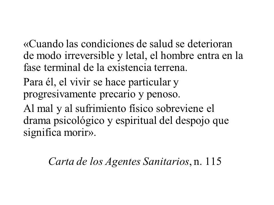 Carta de los Agentes Sanitarios, n. 115