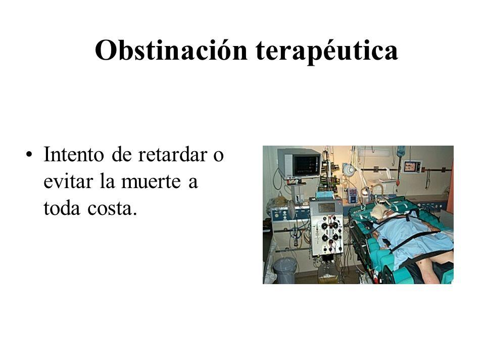 Obstinación terapéutica
