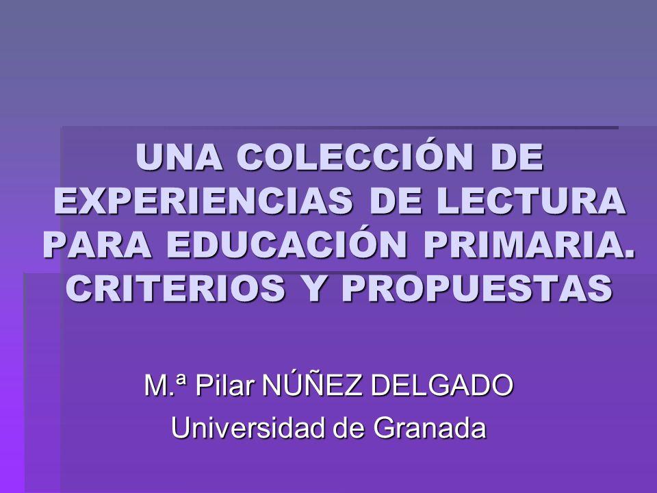 M.ª Pilar NÚÑEZ DELGADO Universidad de Granada