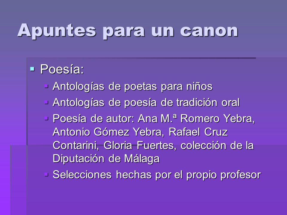 Apuntes para un canon Poesía: Antologías de poetas para niños