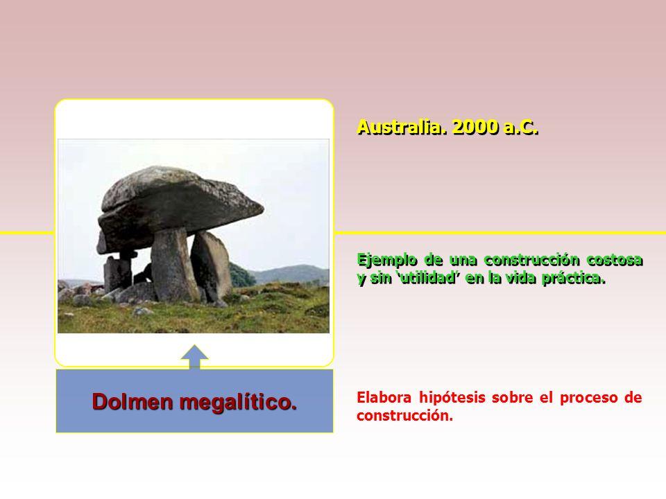Dolmen megalítico. Australia. 2000 a.C.