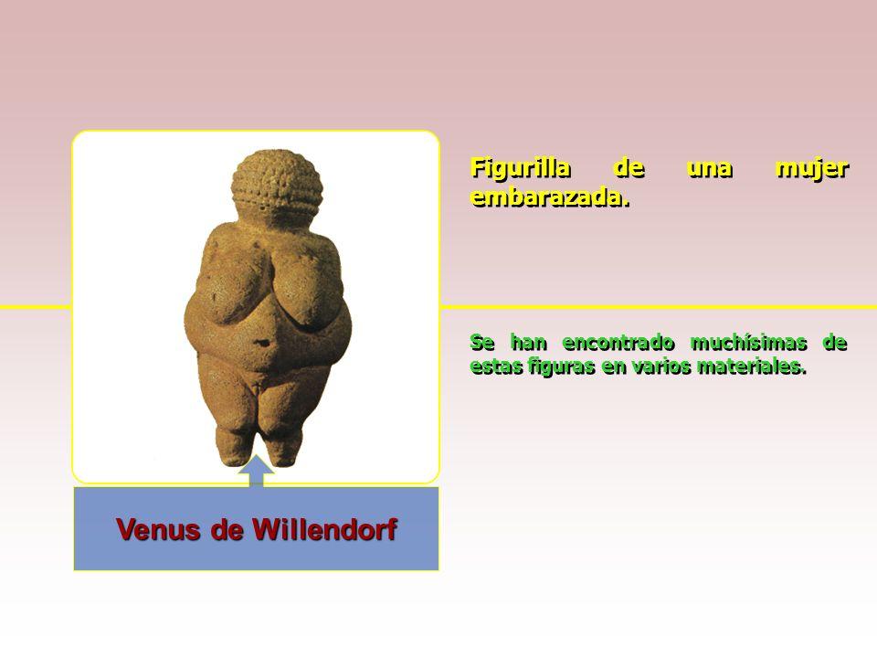 Venus de Willendorf Figurilla de una mujer embarazada.