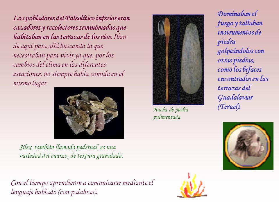 Dominaban el fuego y tallaban instrumentos de piedra golpeándolos con otras piedras, como los bifaces encontrados en las terrazas del Guadalaviar (Teruel).