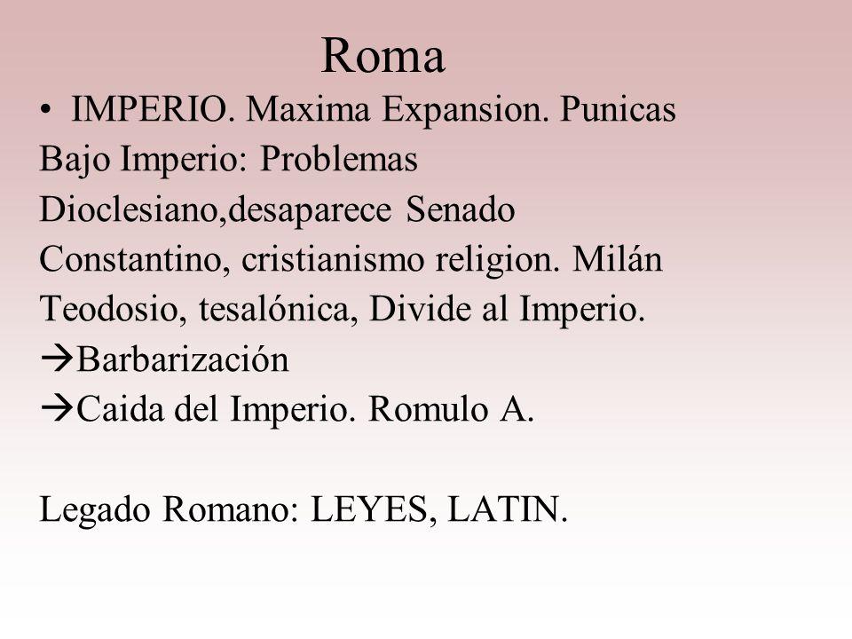 Roma IMPERIO. Maxima Expansion. Punicas Bajo Imperio: Problemas