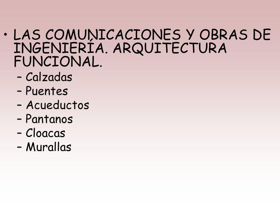 LAS COMUNICACIONES Y OBRAS DE INGENIERÍA. ARQUITECTURA FUNCIONAL.