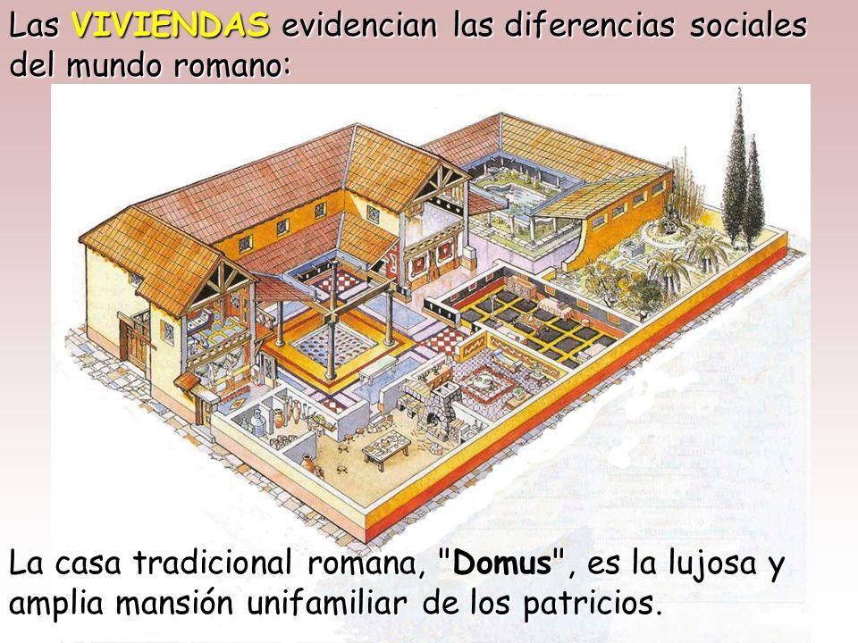 Las VIVIENDAS evidencian las diferencias sociales del mundo romano: