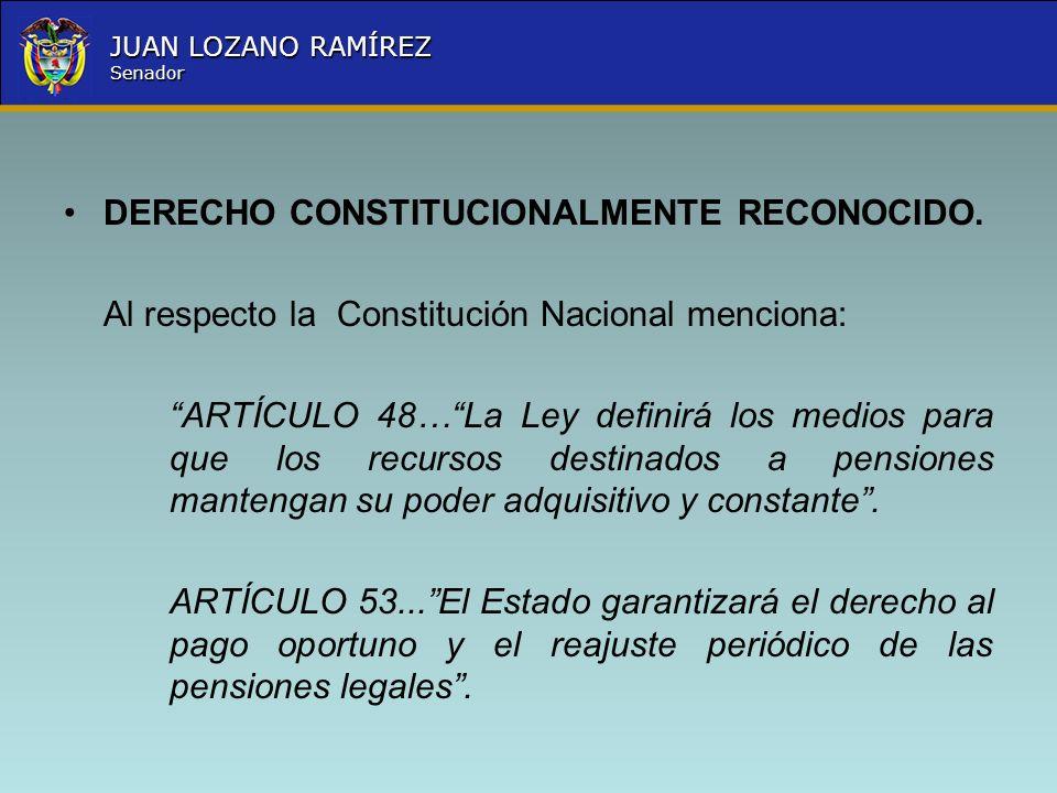 DERECHO CONSTITUCIONALMENTE RECONOCIDO.
