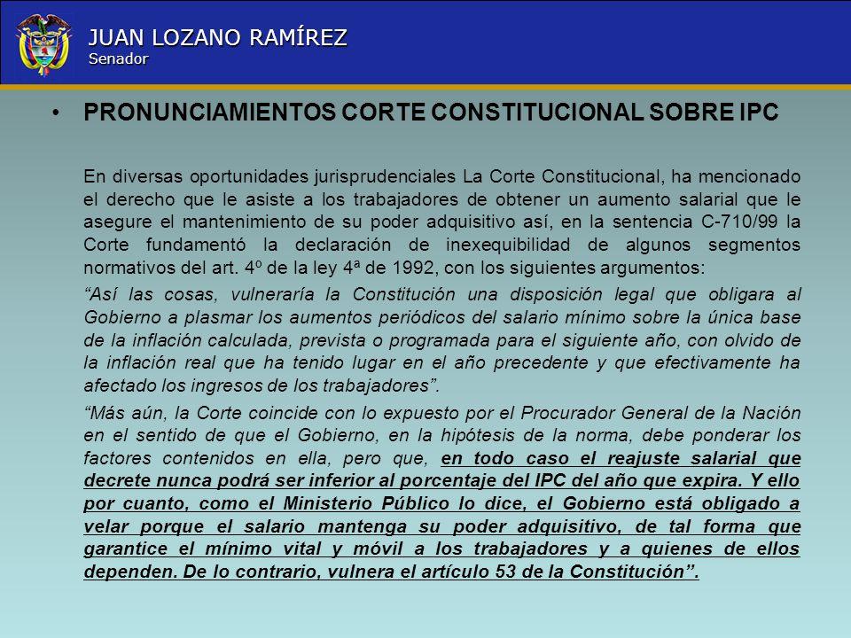 PRONUNCIAMIENTOS CORTE CONSTITUCIONAL SOBRE IPC
