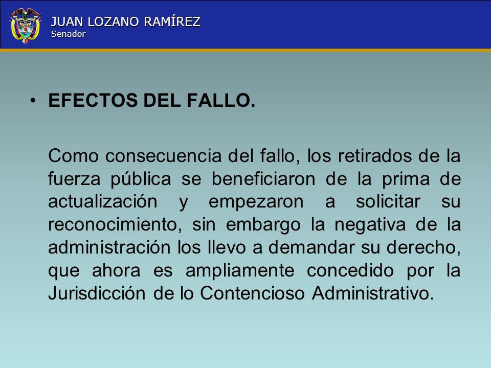 EFECTOS DEL FALLO.