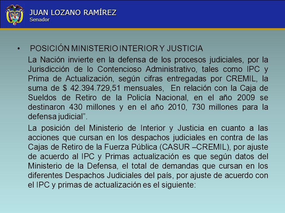 Deuda salarial y prestacional a los miembros de la fuerza for Sueldos del ministerio del interior