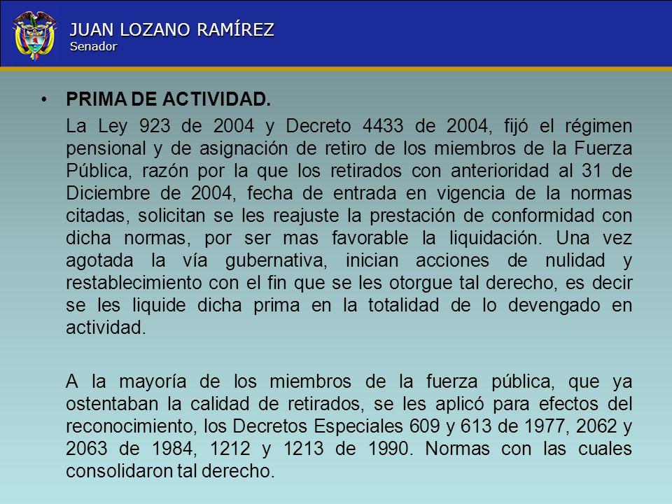 PRIMA DE ACTIVIDAD.