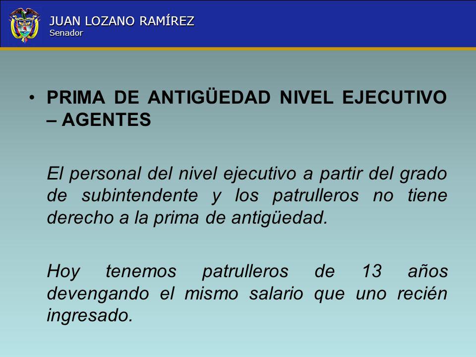 PRIMA DE ANTIGÜEDAD NIVEL EJECUTIVO – AGENTES