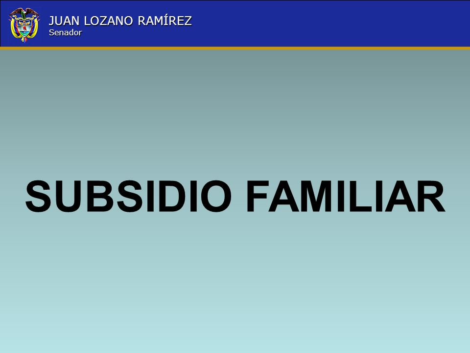 SUBSIDIO FAMILIAR
