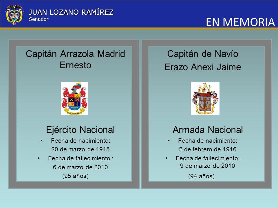 EN MEMORIA Capitán Arrazola Madrid Ernesto Capitán de Navío